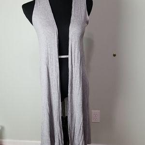 Lularoe Joy solid grey duster vest
